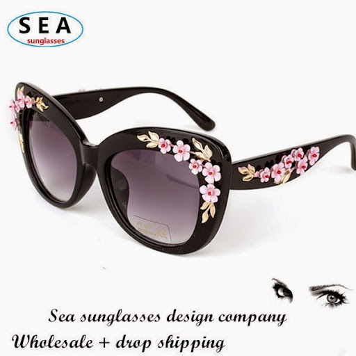 SEA vintage D cat eye sunglasses women brand designer f